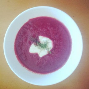 Beetroot and fennelsoup